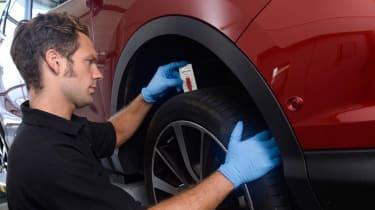MoT test - tyre check