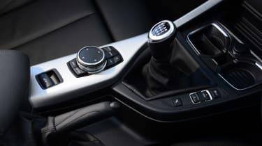 BMW 220d Convertible gearstick
