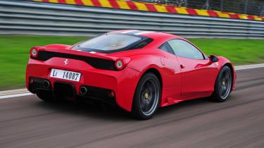 Ferrari 458 Speciale rear action