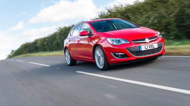 Vauxhall Astra SRi in motion