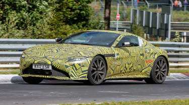 Aston Martin Vantage spy shot front