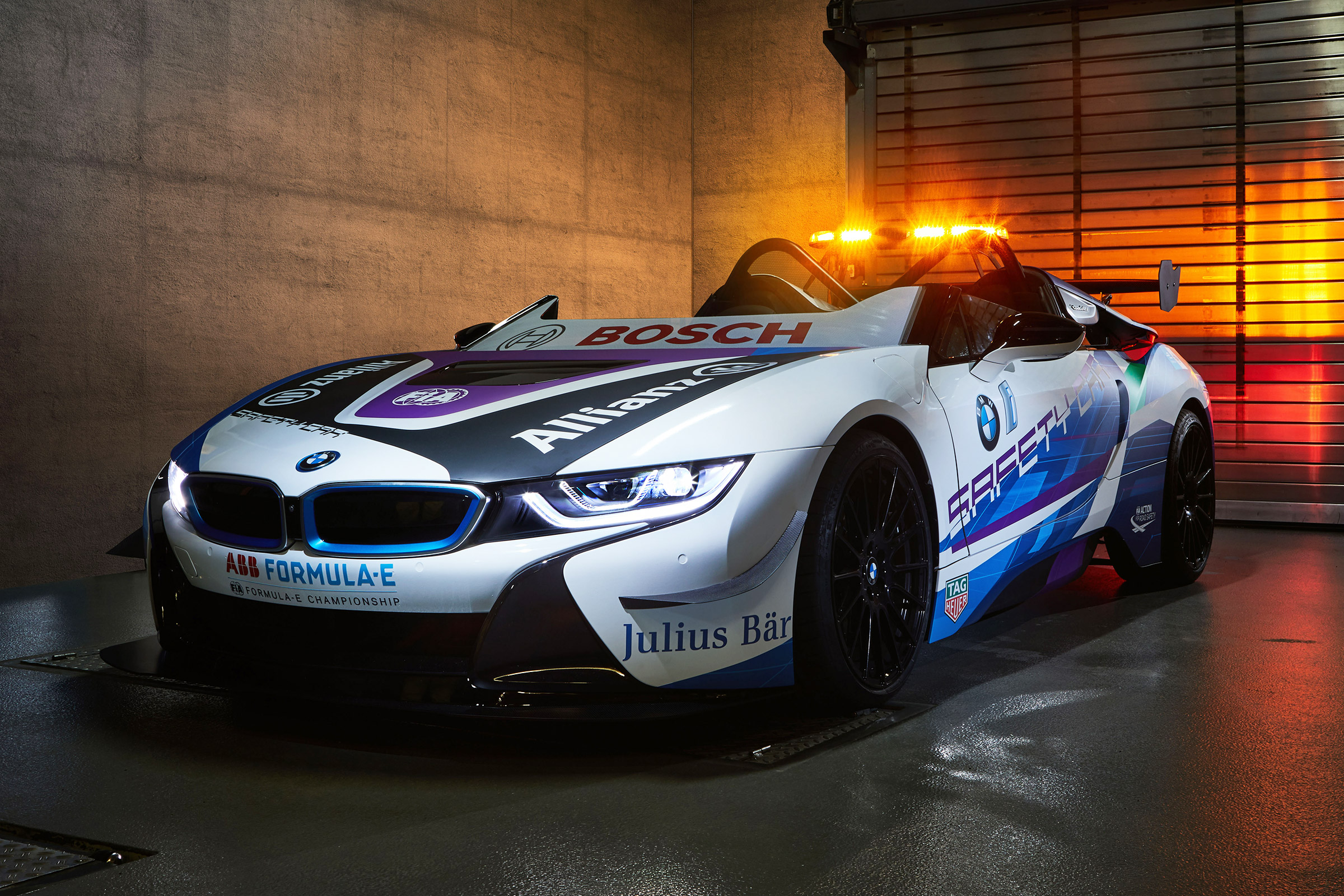 Modified Bmw I8 Roadster Revealed As New Formula E Safety Car Auto Express