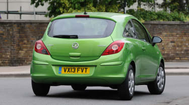 Vauxhall Corsa ecoFLEX rear action