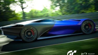 Peugeot L750 R Hybrid Vision Gran Turismo - blue side
