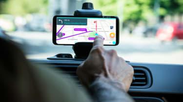 Fiat Panda Waze touchscreen