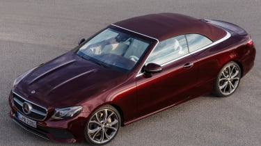 Mercedes E-Class Cabriolet 2017 - burgundy overhead roof up