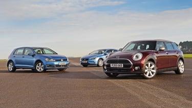 MINI Clubman vs VW Golf vs Volvo V60 - line up