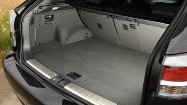 The bootspace is 496-litres, which is someway down on the BMW X5 and even smaller than the BMW X3.