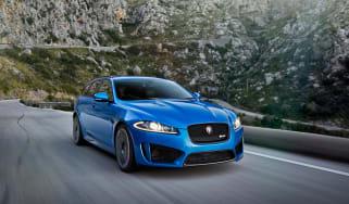 Jaguar XFR-S Sportbrake front tracking