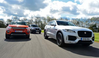 Jaguar F-Pace vs Land Rover Discovery Sport vs BMW X3 - header
