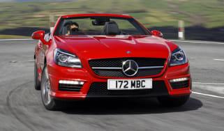 Mercedes SLK55 AMG front cornering