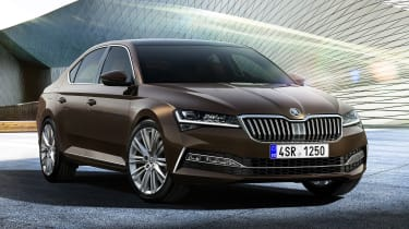 Skoda Superb facelift - front