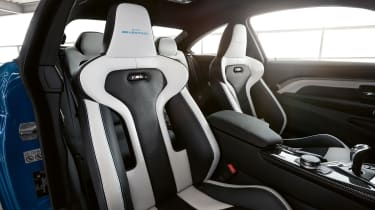 BMW M4 M Heritage Edition - white and black seat