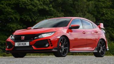 UK Honda Civic Type R 2017 - red static