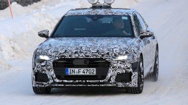 2018 Audi A6 spy shot front