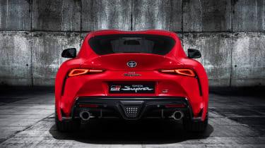 Toyota Supra - red full rear