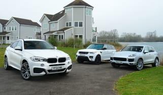 BMW X6 vs Porsche Cayenne and Range Rover Sport