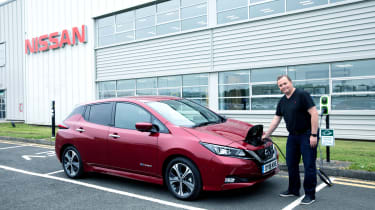 Nissan Leaf long termer first report - charging