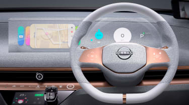Nissan IMk concept - steering wheel