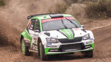 Skoda WRC2 - front drift