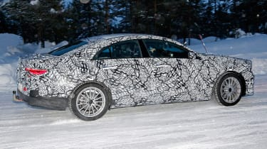 Mercedes CLA spied - side