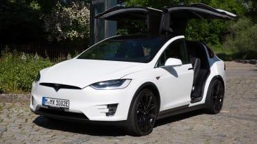 Tesla Model X - front static doors up