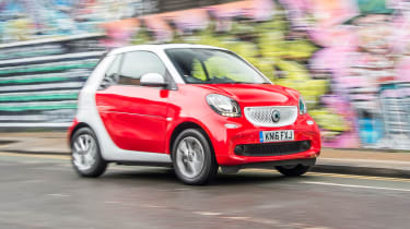 Smart ForTwo Cabrio - front action