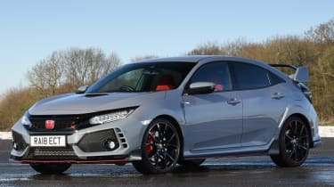 honda civic type r static front