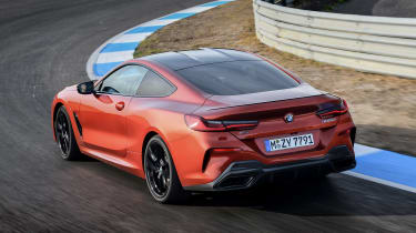 BMW 8 Series - track rear cornering