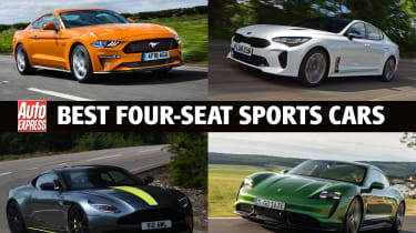 Best four-seat sports cars 2021 - header