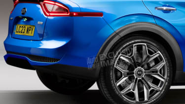 Kia coupe-SUV - rear detail (watermarked)
