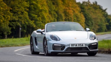 Porsche Boxster - silver front cornering