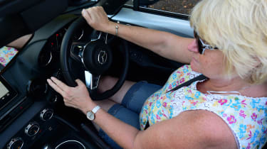 Mazda MX-5 long term - Lesley Harris driving