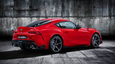 Toyota Supra - red rear