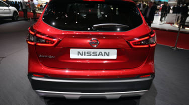 Facelifted Nissan Qashqai show - full rear red