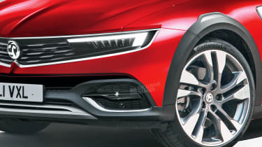 Vauxhall Insignia - front detail (watermarked)