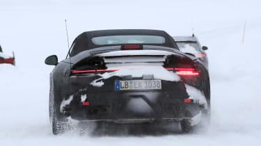 Porsche 911 spy shot rear