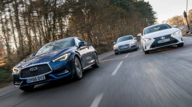 Infiniti Q60 vs Lexus RC vs Audi A5 - header
