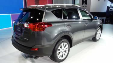 New Toyota RAV4 rear three-quarters