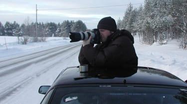 Winter testing in Arjeplog - Spy photographer