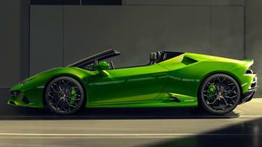 Lamborghini Huracan Evo Spyder - garage side
