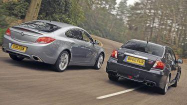 Subaru WRX STi vs. Insignia VXR twin