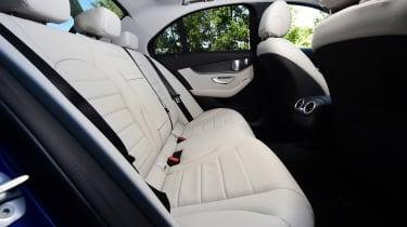 Mercedes C 350e plug-in hybrid - rear seats