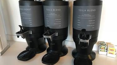 Tesla Factory Tour - coffee