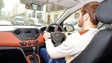 Hyundai i10 long-termer interior
