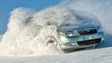 Challenging terrain can now be tackled by grippy new Skoda
