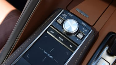 Trackpad controls the car's infotainment system, but it's very fiddly to operate.