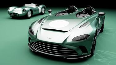 Aston Martin V12 Speedster DBR1 and Aston Martin DBR1 - line-up