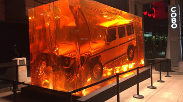 Mercedes G-Class in amber