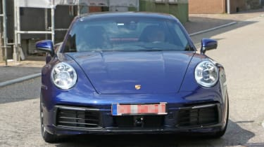 Next generation Porsche 911 driving